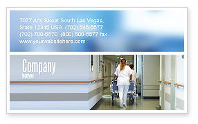 Medical: Resuscitation Department Business Card Template #02944