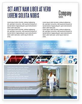 Medical: Modelo de Folheto - departamento de ressuscitação #02944