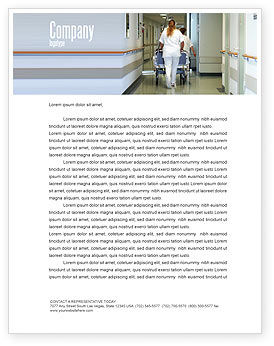 Resuscitation Department Letterhead Template, 02944, Medical — PoweredTemplate.com