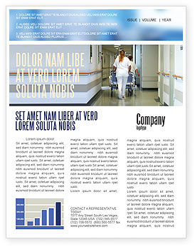 Resuscitation Department Newsletter Template, 02944, Medical — PoweredTemplate.com