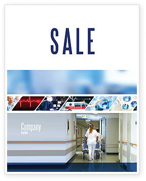 Resuscitation Department Sale Poster Template, 02944, Medical — PoweredTemplate.com