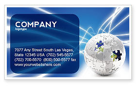 Jigsaw World Business Card Template, 02945, Global — PoweredTemplate.com