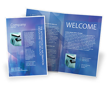 Interactive Brochure Template, 02946, Technology, Science & Computers — PoweredTemplate.com