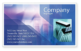 Technology, Science & Computers: Interactive Business Card Template #02946