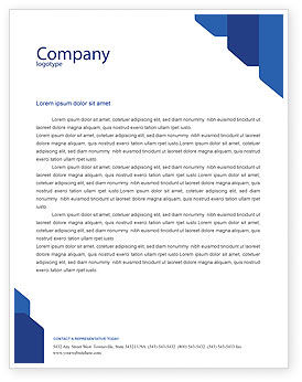 Interactive Letterhead Template, Layout for Microsoft Word, Adobe ...