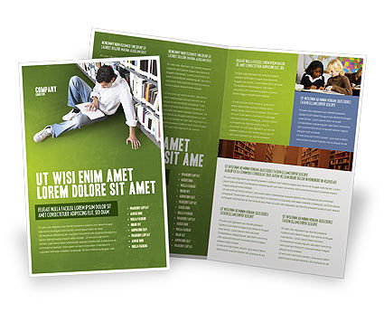 Student In The Library Brochure Template Design and Layout – University Brochure Template