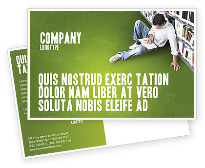 Education & Training: Modèle de Carte postale de autoformation #02948