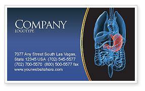 Stomach Business Card Template, 02949, Medical — PoweredTemplate.com