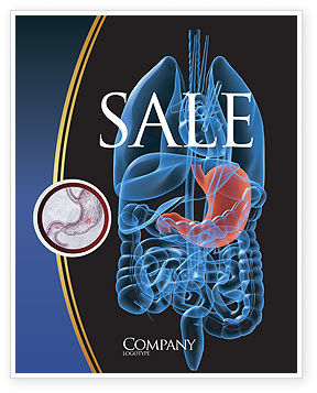 Stomach Sale Poster Template, 02949, Medical — PoweredTemplate.com