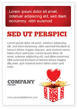 Love Present Ad Template
