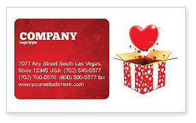 Love Present Business Card Template
