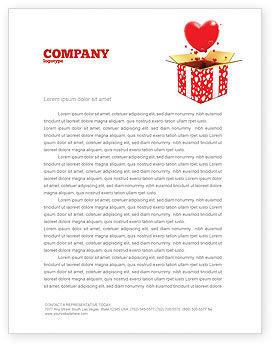 Holiday/Special Occasion: Templat Kop Surat Cinta Hadir #02950