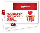 Holiday/Special Occasion: Love Present Postcard Template #02950