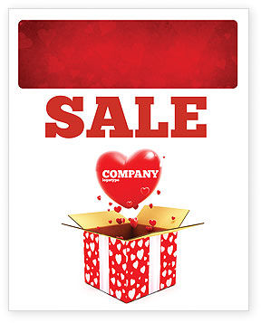 Holiday/Special Occasion: Love Present Sale Poster Template #02950