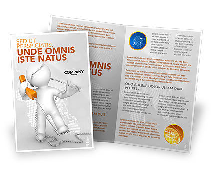 Telecommunication: Orange Telephone Brochure Template #02951