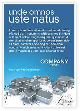 House Building Ad Template, 02955, Construction — PoweredTemplate.com