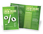 Financial/Accounting: Modello Brochure - Segno di percentuale #02957