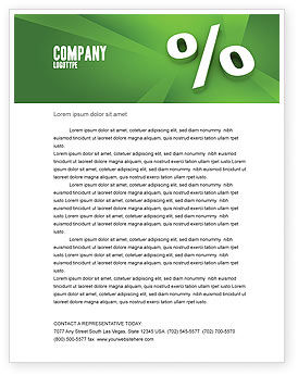 Financial/Accounting: Percent Sign Letterhead Template #02957