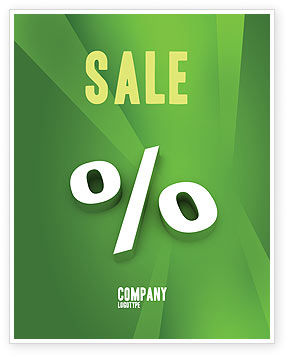 Financial/Accounting: Procentteken Poster Template #02957