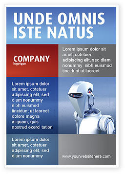 Templat Periklanan Robot, 02958, Technology, Science & Computers — PoweredTemplate.com