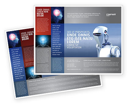 Robot Brochure Template, 02958, Technology, Science & Computers — PoweredTemplate.com
