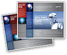 Technology, Science & Computers: Robot Brochure Template #02958