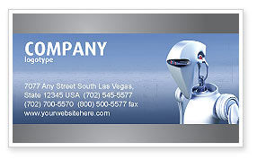 Technology, Science & Computers: Robot Business Card Template #02958