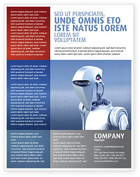 Technology, Science & Computers: Robot Flyer Template #02958