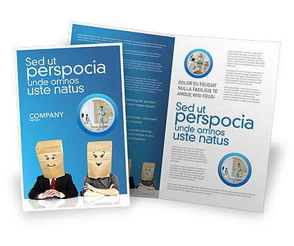 Social Mask Brochure Template, 02960, Consulting — PoweredTemplate.com