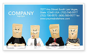 Social Mask Business Card Template, 02960, Consulting — PoweredTemplate.com