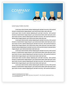 Social Mask Letterhead Template, 02960, Consulting — PoweredTemplate.com