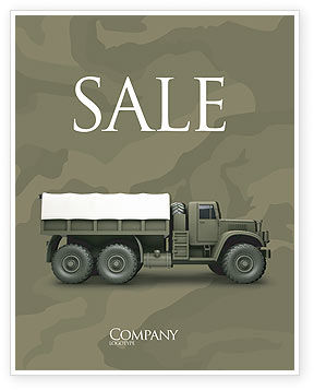 Military Truck Sale Poster Template, 02962, Military — PoweredTemplate.com