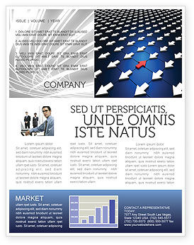 Business Concepts: Private Opinion Newsletter Template #02965