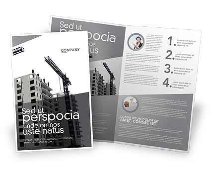 Construction: Building Plot Brochure Template #02967