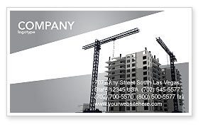 Construction: Building Plot Business Card Template #02967