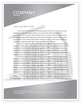 Construction: Building Plot Letterhead Template #02967