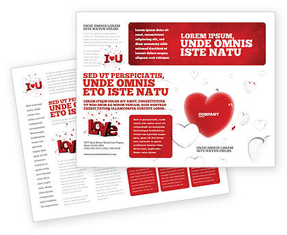 Hearts Brochure Template