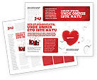 Holiday/Special Occasion: Hearts Brochure Template #02969