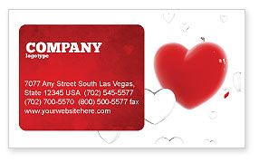 Holiday/Special Occasion: Hearts Business Card Template #02969
