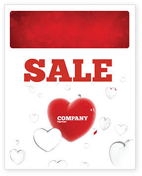 Holiday/Special Occasion: Hearts Sale Poster Template #02969