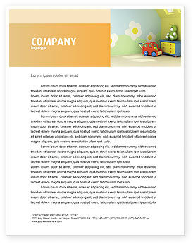 Day Nurseries Letterhead Template, 02974, Education & Training — PoweredTemplate.com