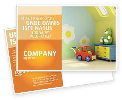 Day Nurseries Postcard Template, 02974, Education & Training — PoweredTemplate.com