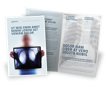 Lungs Brochure Template, 02975, Medical — PoweredTemplate.com