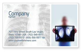 Medical: Lungs Business Card Template #02975