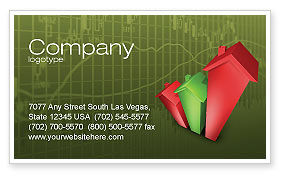 Financial/Accounting: Realty Costs Business Card Template #02978