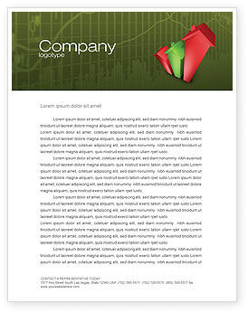 Realty Costs Letterhead Template, 02978, Financial/Accounting — PoweredTemplate.com