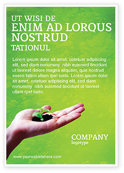Nature & Environment: Sprout Ad Template #02983