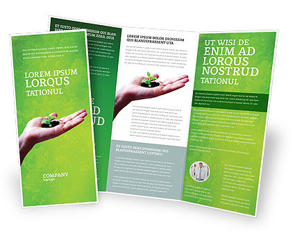 Sprout Brochure Template, 02983, Nature & Environment — PoweredTemplate.com