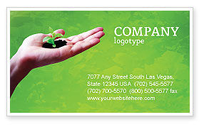 Nature & Environment: Sprout Business Card Template #02983