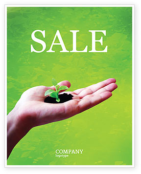 Sprout Sale Poster Template, 02983, Nature & Environment — PoweredTemplate.com